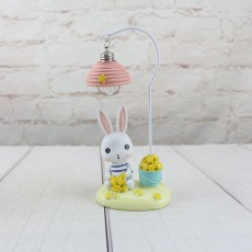 Cartoon Rabbit Night Light Resin Mini LED Night Lamp Home Decoration Creative Resin Ornaments