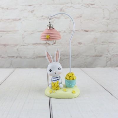 Cartoon Rabbit Night Light Resin Mini LED Night Lamp Home Decoration Creative Resin Ornaments