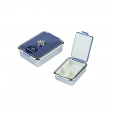Elegant Pill Case with 3 Compartments Fashionable Swarovski Pill Organizer Ideal Gifts for Women