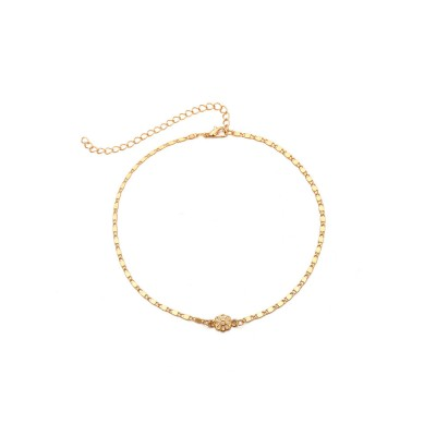 Retro Alloy Plating Necklace Multiple Elements Ornament Coin Flower Diamond Style Neck-let for Women Girl - Golden