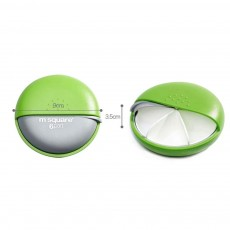 m square Mini PP ABS Round Pill Box Container Storage Case for Medicine Jewelry Vitamin Headphone