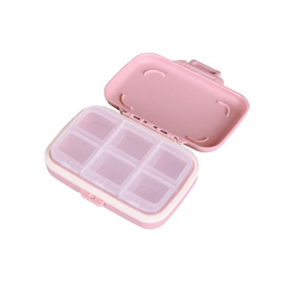 One Week Daily Sealing Pill Case Dispenser, Portable Mini Storage Box PP Small Container for Medicine Jewelry Vitamin