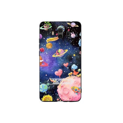 Creative Planet Oil Painting Silicone Phone Shell for Huawei Mate 10 Drop-resistance Huawei Mate 20 Cover Phone Case