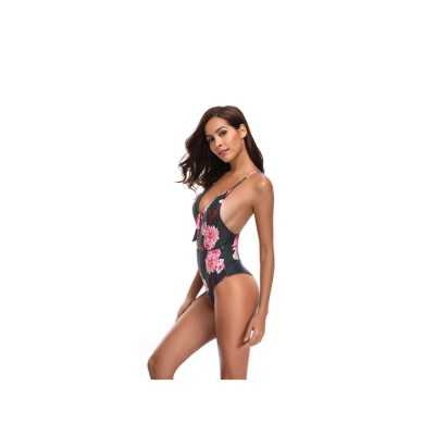 Retro Style Swimsuit Bikini for Women in 2019 Waist High One-piece Sexy Swimsuit for Ladies