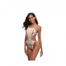 New Style Bikini Swimsuit for Women in 2019, One-piece Floral Pattern Swimwear Bathing Suit