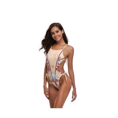 New Style Bikini Swimsuit for Women in 2019, One-piece Floral Pattern Swimwear Bathing Suit