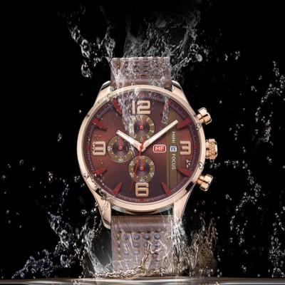 Mini Focus Men's Business Watch, MINI FOCUS Stylish Luminous Watches Leather Bracelet