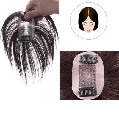 Real Hair Wig Piece Color Thin and Light Straight Hair Piece Natural Full Head Clip Women Ladies Hand-woven Wig
