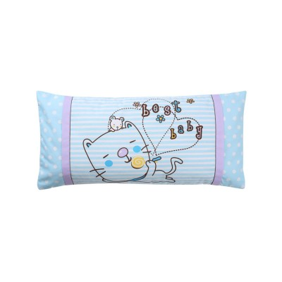 Soft Baby Pillow Anti-Headrest, Comfortable Cotton Pillow for 0-6 Months infant newborn Baby, Candy Cat Pillow