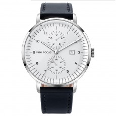 Men's Fashion Watch with Calendar Luminous Waterproof Wristwatch Leather Strap Watch