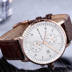 Men's Fashion Watch with Calendar Luminous Waterproof Wristwatch Leather Strap Watch