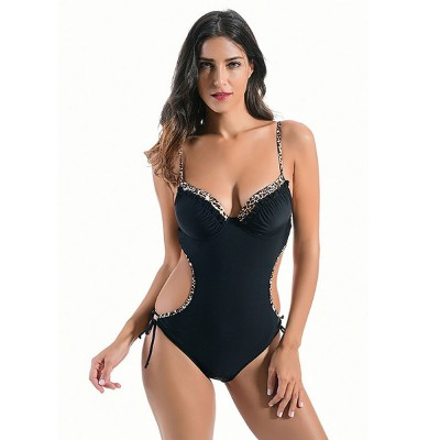 One-Piece Tankini Swimming Suits, Women Beachwear, Bathing Suits, Sexy Halter Swimsuits for Girls