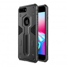 Armour Shape Cool Phone Back Cover Shell Case Color Mixture Stylish Holder TPU Built-In for iPhone 8 Plus PC Protective Case