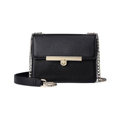 PU Leather Cross-Body Shoulder Clutch Purse Evening Handbag with Chain