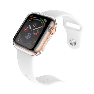 Apple Watch Case Built in TPU Screen Protector All-Around Protective Cover High Definition Clear Ultra-Thin Shell for Apple Watch Series 4 3 and Series 2