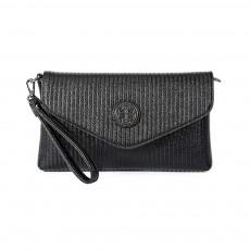 Women's Stylish Practical PU Leather Shoulder Bag Handbag with Detachable Shoulder Strap Black