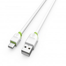 2.1A 1m USB Charging Cable Android iPhone Type C Phone Fast Charger Cord White
