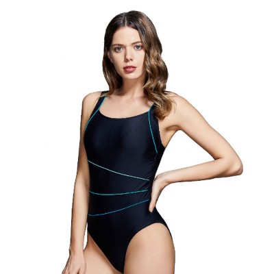 Professional Sport Swimsuit Minimalist Stylish Three Colors Joint Quick-dry Bikini with Elastic Dripping Belt