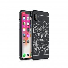 Silicone iPhone Protective Case Shell Slim Phone Back Cover with Full Body Protection with Dragon Pattern for iPhone X XS XR XS MAX