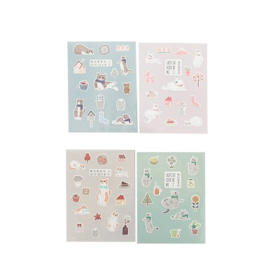 Notebook Decoration Sticker with Cute Different Pattern Bright Active Color Paper Sticker