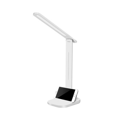 Foldable LED Desk Lamp for Office Work Dormitory,  Eye Protection Rechargeable USB Table Lamp with Phone Stand Adjustable Table Lamp Light