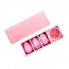 Three Plus One Powder Puff Kit Wet and Dry Dual Use Makeup Sponge Powder Puffs for Face Powder Beauty Makeup Egg Powder Puff Makeup Tools