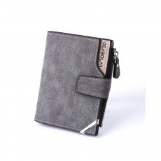 New Men's Medium-Long Style Wallet PU Casual Retro Men Purse with Canvas Surface Men's Clutch