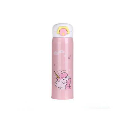 Cartoon Portable Stainless Steel Vacuum Cup Bottle Children Cup with Unicorn Pattern