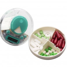 Portable Electric Pill Case for One Week, Mini-sized PP Material Medicine Storage Reminder
