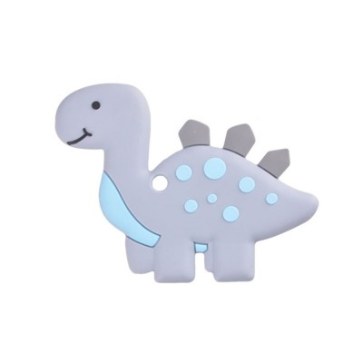Dinosaur-shape Silicone Baby Teether, BPA Free Safe Baby Teeth Chew Toys for 3 Months to 2 Years Baby Infant Boy Girl Cartoon Baby Teethers