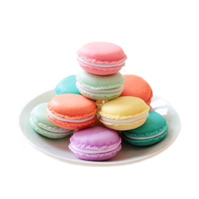 Mini Macaron Box Colorful Macaron Jewelry Storage Box Cute Organizer Case Container