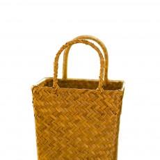 Pastoral Style Knitted Hanging Basket Decoration, High Quality Emulational Portable Vine Material Flower Basket
