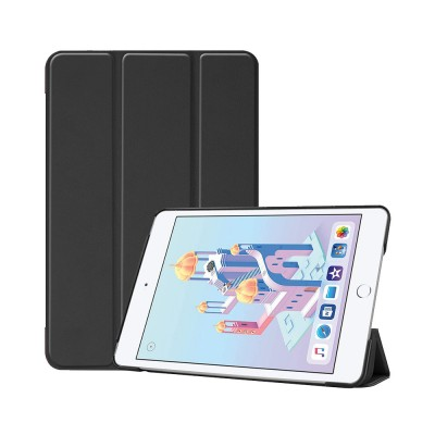 Tri-fold Filp Protective Leather Case for iPad Mini 5 4 Auto Sleep Wake Stand Cover Lightweight Full Protect Shockproof Shell 10 Colors