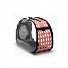 Transparent Pet Carrier Travel Bag, Foldable Portable Bag with Breathable Holes and Zipper Opening