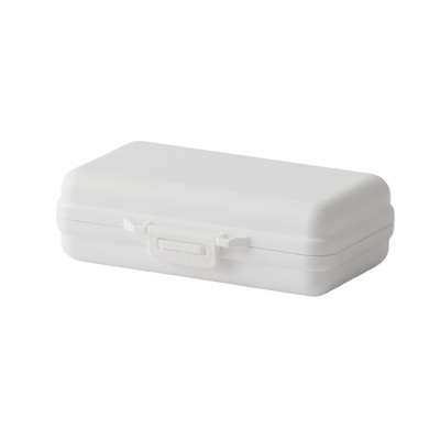 Mini-sized Medicine Container for Outdoor Travelling, Concise Potable White Little Carry-on Pill Case One Week Dose Dispenser