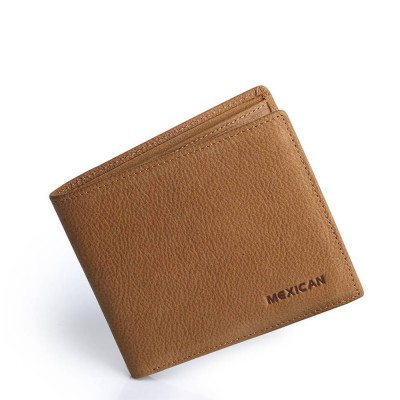 Mexican Polo Upper Cow Leather Wallet for Men, Fashionable Ultra Thin Vintage Textured Wallet High Quality