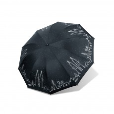 Enlarged Version Creative All-Weather Umbrella Triple Folding Beach Umbrella with Black Gum Coating