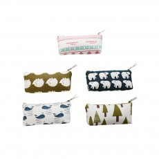 Korean Style New Creative Student Stationery Bag Cotton Linen Pen Bag for Different Patterns Optional