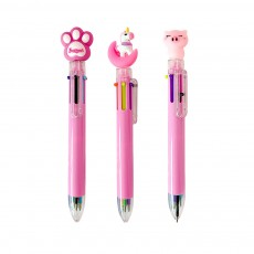 6 Colors in 1 Ball Pens Multi-colors Cute Ballpoint Pen for Students School Office  Stationery Gift