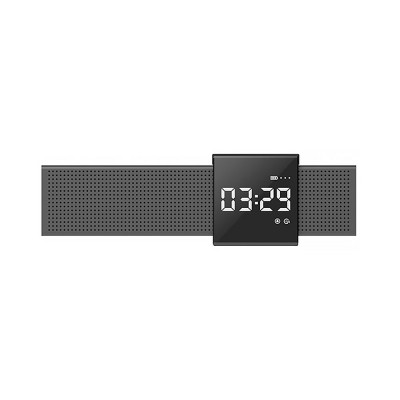 Metal Material Bluetooth Speakers with Alarm Clock Sound Rechargeable Acoustics Intelligent Display Loudspeaker Box Rich Bass Sound Box
