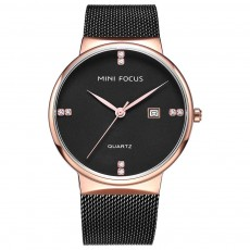 Fashionable Watch for Men Japanese Movement Waterproof Calendar Metal Watch Strap Classic Watch