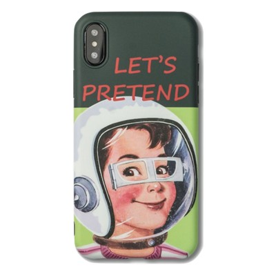 Mobile Phone Case All-inclusive Protection Soft Case French Retro Astronaut for iPhone XS, iPhone MAX, 8, 8 Plus, 7, 7 Plus