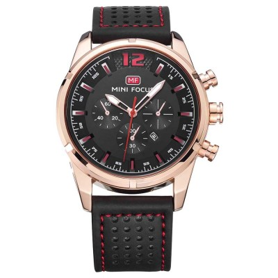 Watch for Men Japanese Movement Leather Strap Calendar Luminous Waterproof 0005G Quartz Watch
