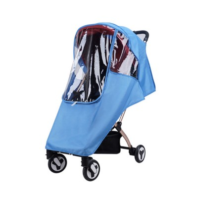 Universal Baby Stroller Rain Cover, Baby Carriage Transparent Raincoat, Umbrella Car Breathable & Heat Shield Cover for Anti Rain & Wind