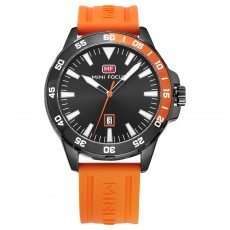 Sports Watch for Men Japanese Movement Waterproof Luminous Silicone Watchband 0020G Quartz Watch