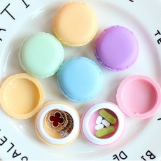 Macaron Medicine Box PP Portable Candy Color Pill Jewelry Organizer Creativity Cute Outdoor Pill Box Tablets Container