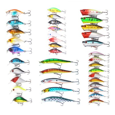 38 Outfit Fishing Lures with Various Style and Variety of Shape, Silicone Baits, Attractants for Saltwater and Freshwater