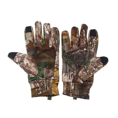 Outdoor Camouflage Gloves Thin Section Windproof Warm Gloves Anti-slip Fishing Gloves For Men, Women