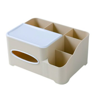 Storage Box Plastic Multifunctional Tissue Box Creativity Sorting Box for Remote Controller Sundries Container
