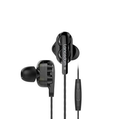 Langsdom D4 Universal Earphone Mega Bass Quad-core Powder Double Dynamic In-ear HiFi Earphone for Mobile Phone